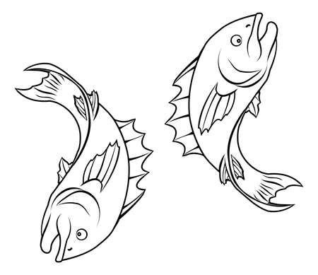 An illustration of stylised fish forming a circle perhaps a fish tattoo Stock Vector - 20220335
