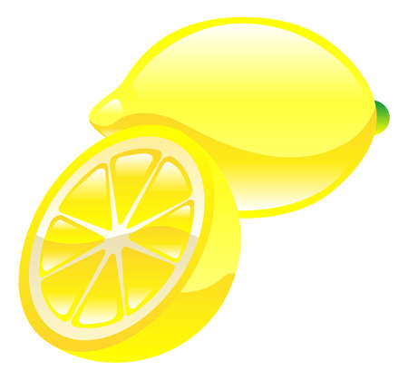 Illustration of lemon fruit icon clipart Vector