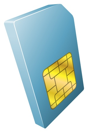 Illustration of mobile phone sim card icon clipart Vector