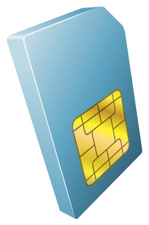sim card: Illustration of mobile phone sim card icon clipart