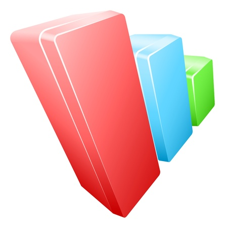 barchart: Illustration of business finance bar chart graph