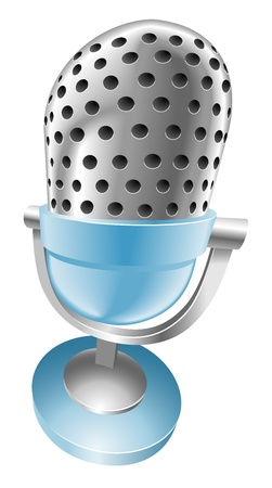 Illustration of shiny blue microphone Stock Vector - 21683571
