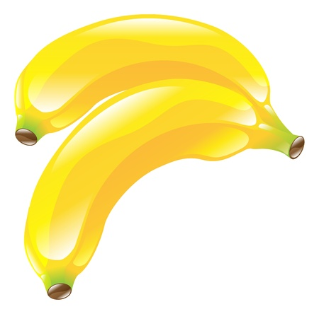 bannana: Illustration of banana fruit icon clipart