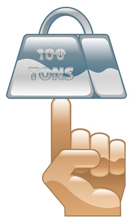 tonnes: Strength concept icon clipart illustration Illustration