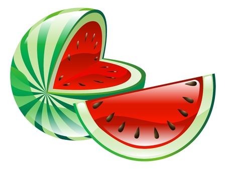 Illustration of watermelon fruit icon clipart Vector