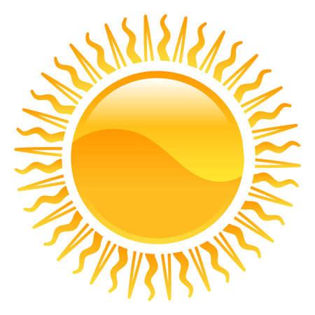 illustrazione sole: Meteo icona clipart sole illustrazione Vettoriali