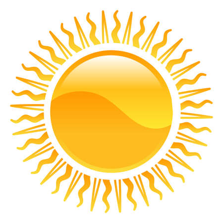 Weather icon clipart sun illustration Vector