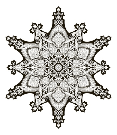 A beautiful Arabic middle eastern floral pattern motif, based on Ottoman ornament Vector