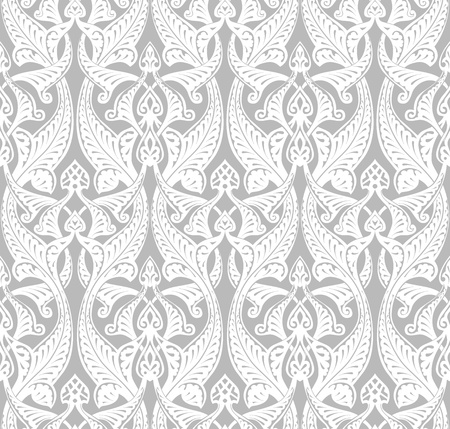 Vintage detailed seamlessly tilable repeating Art Nouveau motif background pattern Vector
