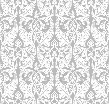 tilable: Vintage dettagliate senza soluzione di continuit� ripetendo tilable Art Nouveau motivo di fondo del modello Vettoriali