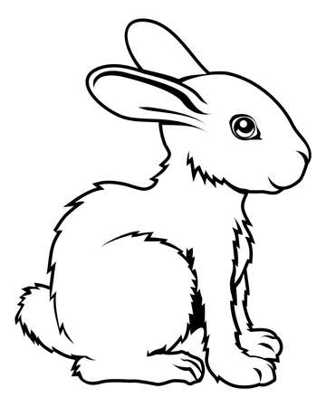 starsign: An illustration of a stylised rabbit perhaps a rabbit tattoo
