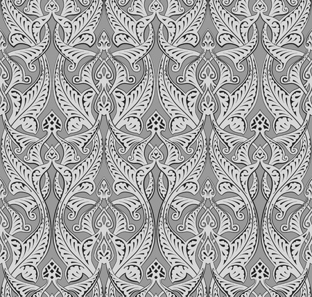Illustration of seamlessly tiling repeat art nouveau background pattern Vector