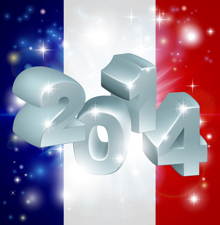 tricolour: Flag of France 2014 background. New Year or similar concept