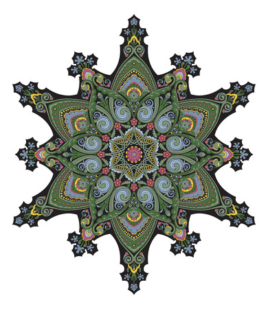 persian art: Arabic middle eastern floral pattern motif, based on Ottoman ornament