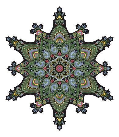 flower vines: Arabic middle eastern floral pattern motif, based on Ottoman ornament