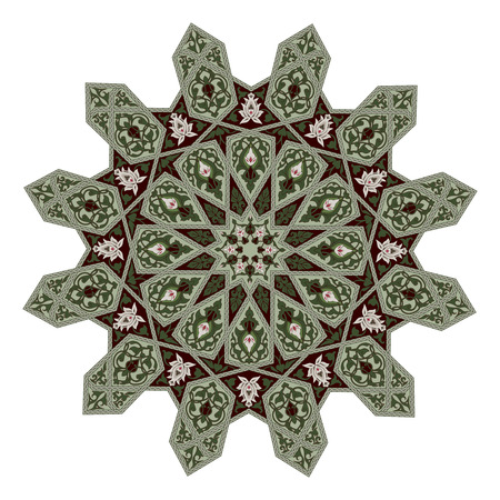 Arabic middle eastern floral pattern motif, based on Arabian ornament Vector