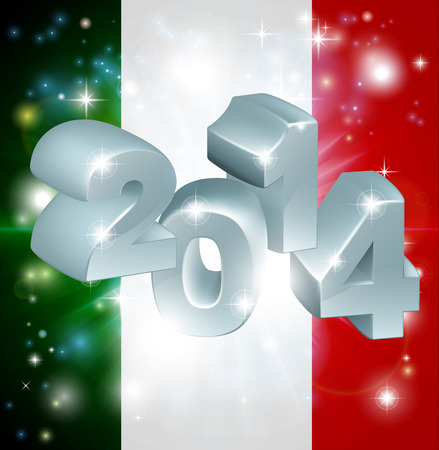 Flag of Italy 2014 background. New Year or similar concept Vector