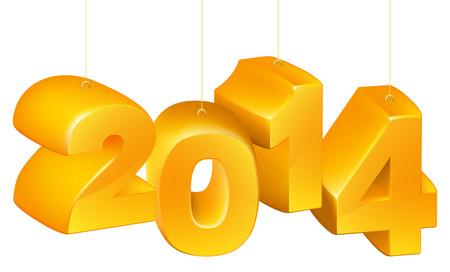 newyear: Naranja A�o Nuevo o decoraciones de Navidad o adornos del �rbol o adornos de lectura 2014