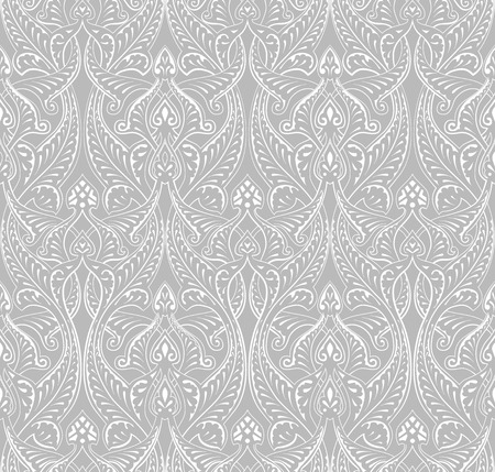 An intricate vintage seamlessly tilable repeating Islamic motif pattern Vector