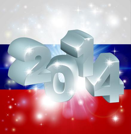 newyear: Bandera de Rusia 2014 Fondo del A�o Nuevo o concepto similar