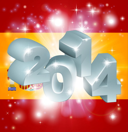 Flag of Spain 2014 background. New Year or similar concept Vector