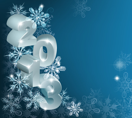 A Christmas 2013 blue Snowflakes Background with copyspace for text or message Stock Vector - 24199243
