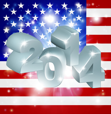 American flag 2014 background. New Year or similar concept Vector