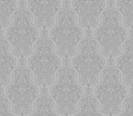 Vintage intricate seamlessly tilable repeating  arabic background pattern Stock Vector - 24466670