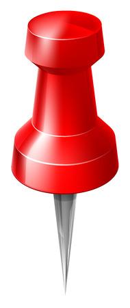 připínáček: Mapa pin, připínáček nebo palec připínáček ilustrace jako ty používané pro mapy či nástěnek, nebo připnout fotografií k něčemu