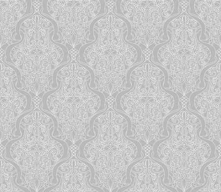 Illustration of an intricate seamlessly tilable repeating vintage Islamic motif pattern Vector