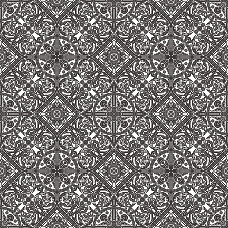 Vintage intricate seamless background tile based on Middle Eastern Arabic motif patterns photo