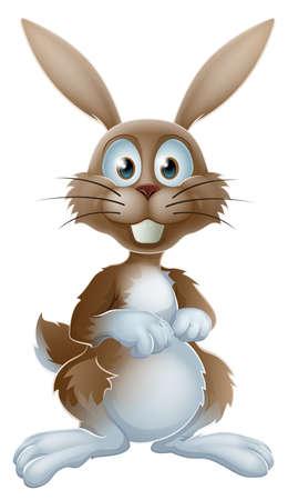 Una ilustración de un conejo de dibujos animados lindo o conejo de Pascua