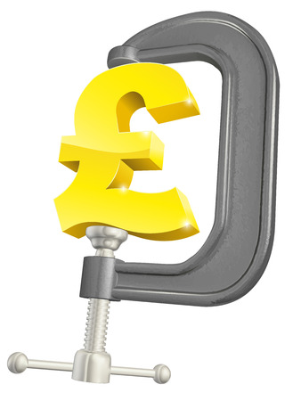 squeeze: Conceptual illustration of a pound sign in a C or G clamp