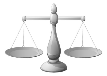 libra: An illustration of a set of classic silver scales