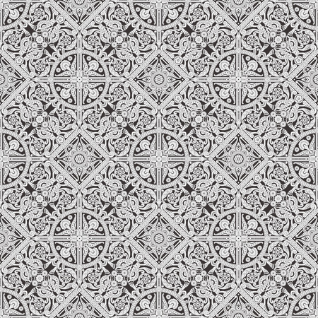 Retro seamless tiling floral wallpaper pattern reminiscent of floral victorian designs photo