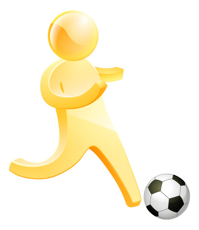 socer: Soccer football person about to kick a soccer or football Illustration