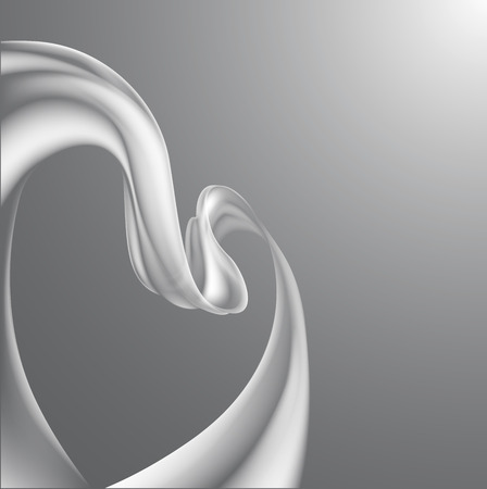 back ground: A modern ribbon wave abstract background, ribbon forming a subtle heart shape  Illustration