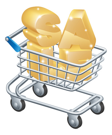 troley: Sale shopping trolley, a supermarket trolley shopping cart containing the word sale