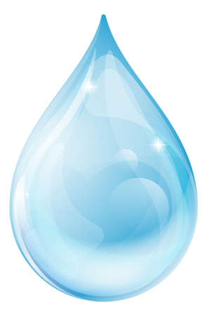 water reflection: An illustration of a water drop or rain drop