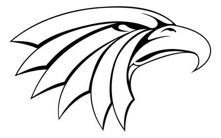 An illustration of a proud eagle head icon Vector