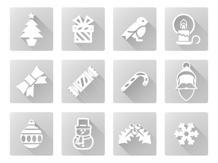 Christmas icon set including Santa, snow flake, cracker, robin, snowman and lots more Vector