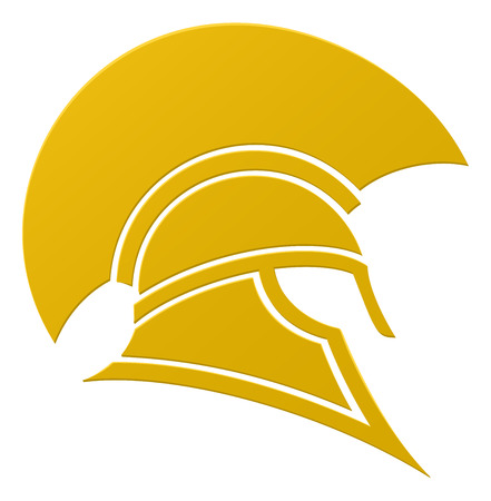 military helmet: An imposing Spartan or Trojan helmet in profile icon