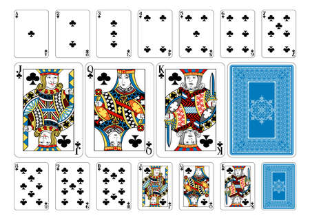 white card: Cards from the Georghiou 14 deck, a beautifully crafted new original playing card deck design. Illustration