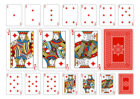 Cards from the Georghiou 14 deck, a beautifully crafted new original playing card deck design.  Vector
