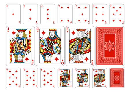 playing card symbols: Cartas de la baraja Georghiou 14, un nuevo dise�o de la cubierta original de la tarjeta de juego maravillosamente hecho a mano.