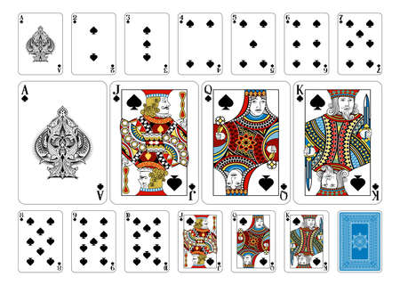 ace of spades: Cards from the Georghiou 14 deck, a beautifully crafted new original playing card deck design. Illustration