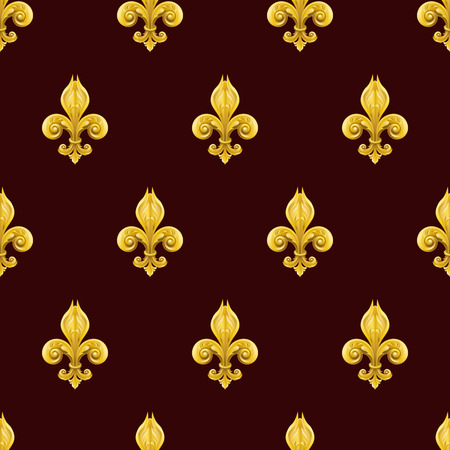 lyre: A seamles background featuring a pattern of fleur se lis Illustration