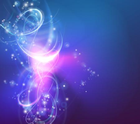 Un fond abstrait tourbillon de lumière moderne avec des formes de tourbillons électriques Illustration