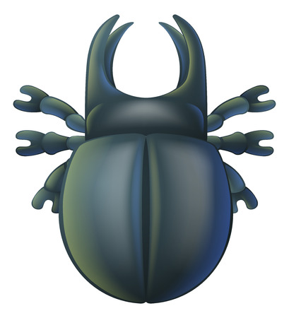 stag beetle: An illustration of a cartoon insect bug character