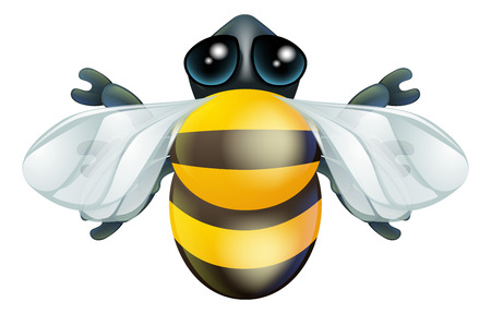 cartoon insect: An illustration of a cartoon insect bee bug character